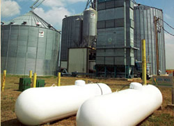 Propane tanks used in agriculture