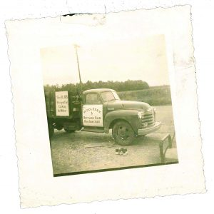 The original truck H.L. Revere used to deliver propane starting in 1942.